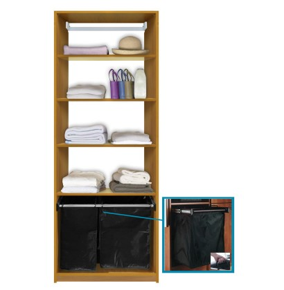 Isa Custom Closet Shelves With Hamper Pullout ...