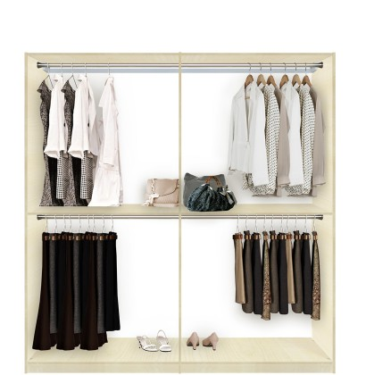 Isa Custom Closet For Hanging Clothes Double