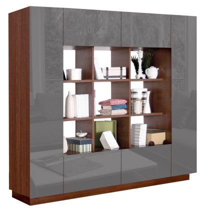 Harrison Bookcase - Modern Cube Bookshelves Surrounded by Storage