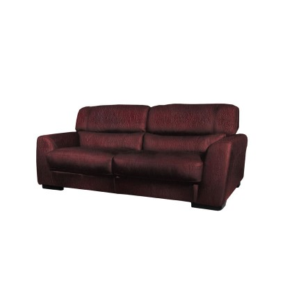 Adrian Loveseat - Modern Leather Loveseat in Burgundy or Chestnut Leather