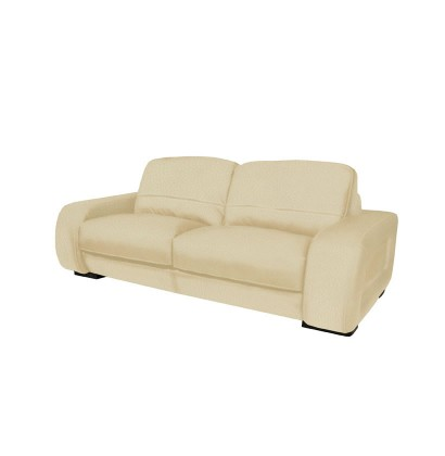 Diego Loveseat   Modern Leather Loveseat In Brown Leather Or Creme