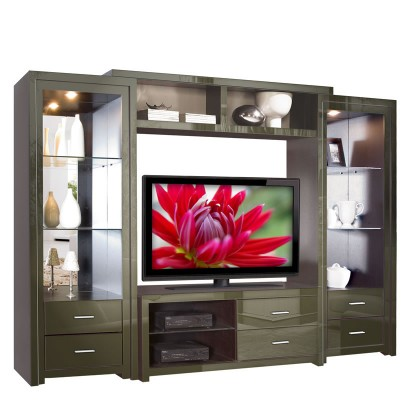 Savoy Wall Unit - Big Glass Shelves & Open Spaces | Contempo Space