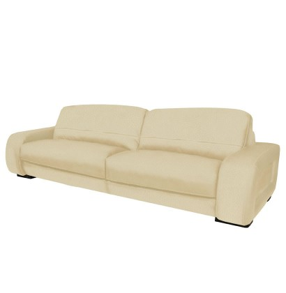 Diego Sofa - 7 Foot Leather Sofa in Brown Leather or Creme