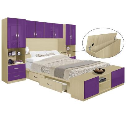 Studio 4 Drawer Platform Bed w Pier Storagemax Headboard & Footboard