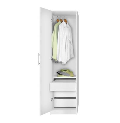 Alta Narrow Wardrobe Closet - Left Door, 3 Interior Drawers