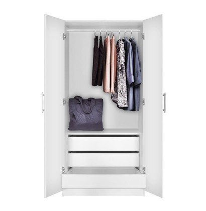 Alta Wardrobe Cabinet - 3 Interior Drawers
