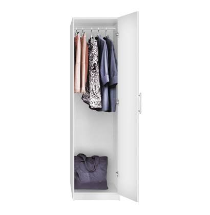 Alta Narrow Wardrobe Closet - Right Opening Door