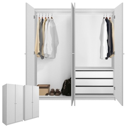 Alta Wardrobe Closet Package - 3 Drawer Wardrobe Package