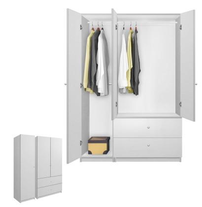 Alta Wardrobe Armoire Package - 3 Door, 2 Drawer Package - Left