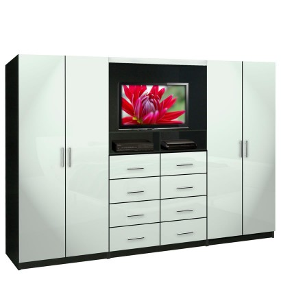 Aventa TV Wall Unit For Bedrooms   Free Standing Bedroom Wardrobe Unit