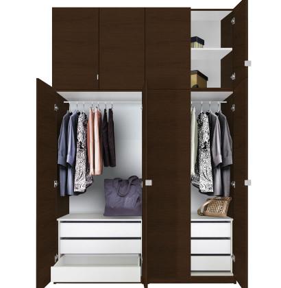 Alta Wardrobe Closet Package - 6 Drawer Wardrobe Extra Tall