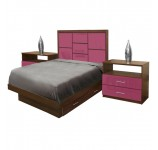 Uptown Twin Size Bedroom Set w Storage Platform