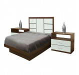 Downtown Twin Size Platform Bedroom Set 4 Piece