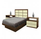 Cambridge Twin Size Platform Bedroom Set 4 Piece