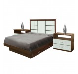 Downtown Full Size Bedroom Set w Storage Platform