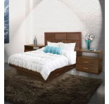 Manhattan Queen Size Bedroom Set w Storage Platform