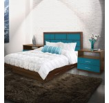 Manhattan King Size Bedroom Set w Storage Platform