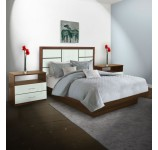 Downtown King Size Platform Bedroom Set 4 Piece