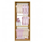 Isa Custom Closet - Triple Hanging Closet System for Infant Clothing