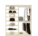 Isa Double Hanging Closet System Top to Bottom Shelves