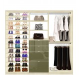 Isa Custom Closet - Shoe Storage Drawers and Hanging Closet System