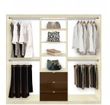 Isa Closet Organization System - Triple Wide Closet System Organizes Everything