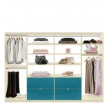 Isa Closet System XL - Maximize Large Closets with Drawers Shelves and Hanging