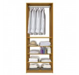 Isa Closet System - Hanging Clothes Above, Closet Shelves Below
