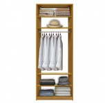 Isa Custom Closet System - Center Hanging, 4 Adjustable Shelves