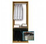 Custom Closet System for Hanging Clothing
