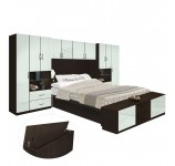 Lincoln Pier Wall Platform Bed w Storagemax Headboard & Storage Footboard