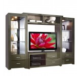 Savoy wall unit oregano colored glass front