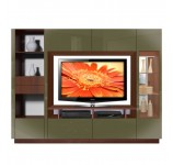 Tristan Wall Unit with Storage, Shelving, Lighted Curio Door
