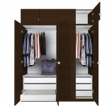 Alta Tall Wardrobe Closet Package - 6 Drawer Wardrobe
