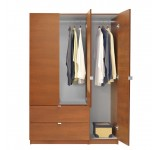 Alta Wardrobe Armoire - 3 Door Armoire Right Opening