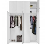 Alta 8 Door Wardrobe Closet Basic Package - Extra Tall