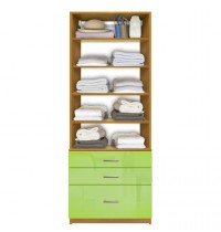 isa closet system with 5 drawers adjustable shelves 11144 | custom closet 11144