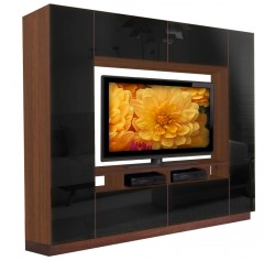 Alexander Entertainment Center Black Glass Front