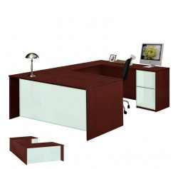 Alexis U Shaped Executive Desk - Full Pedestal Right Bridge