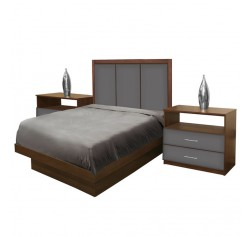 Monte Carlo Twin Size Platform Bedroom Set 4 Piece