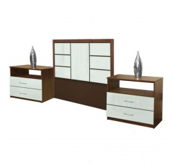 Downtown Twin Size 3 Piece Bedroom Set