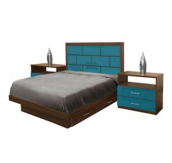Manhattan Full Size Bedroom Set w Storage Platform