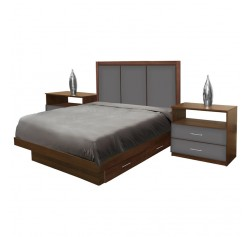 Monte Carlo Full Size Bedroom Set w Storage Platform