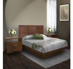Rico Queen Size Platform Bedroom Set 4 Piece