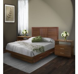 Rico Queen Size Bedroom Set w Storage Platform