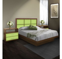 Rico King Size Platform Bedroom Set 4 Piece