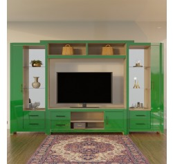 Chrystie entertainment center black colored glass