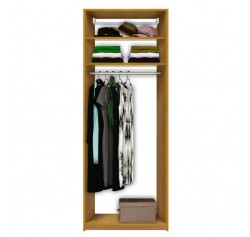 Isa Custom Closet - Tall Hanging Closet, 2 Shelves at Top