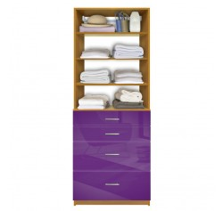 Isa Custom Closet Organization - 4 Drawers, Adjustable Shelves