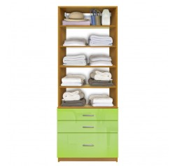 Isa Closet System - Shallow & Deep Drawers, 5 Shelves